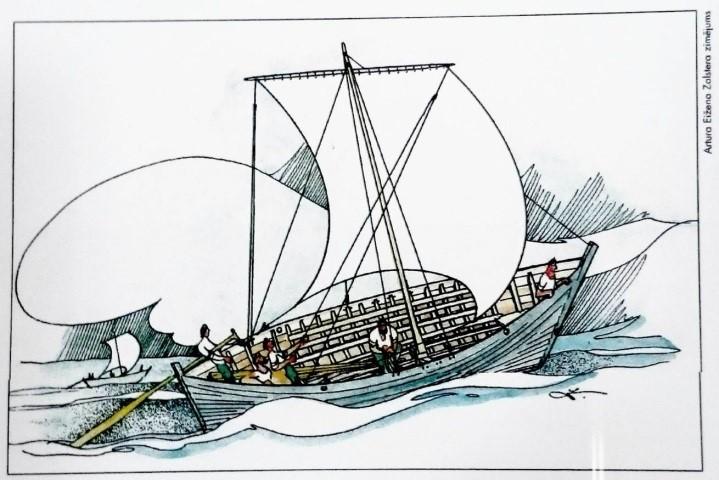 Rīgas kuģa zīmējums