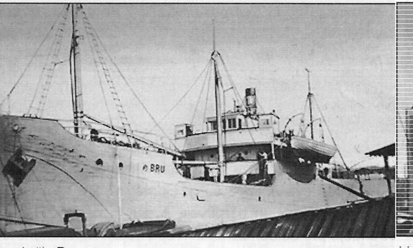 RJS mācību kuģis BRU pie piestātnes Rīgā