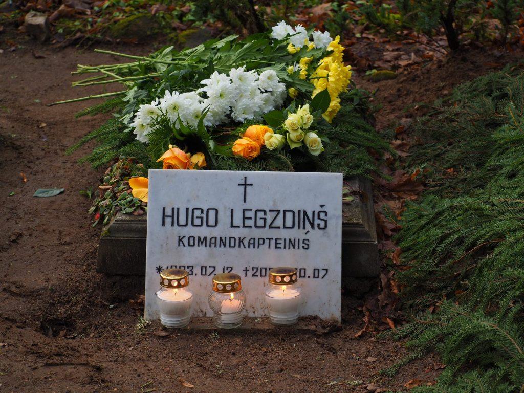 Hugo Legzdiņa kapavieta Lēdurgas kapos
