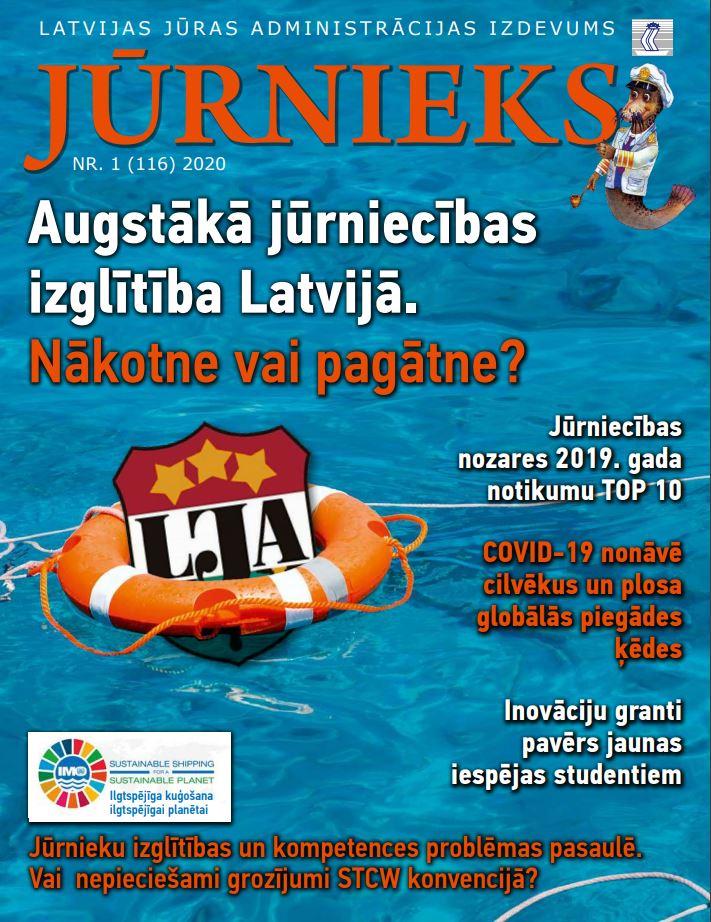 Žurnāls Jūrnieks - 2021. gada 1. izdevums