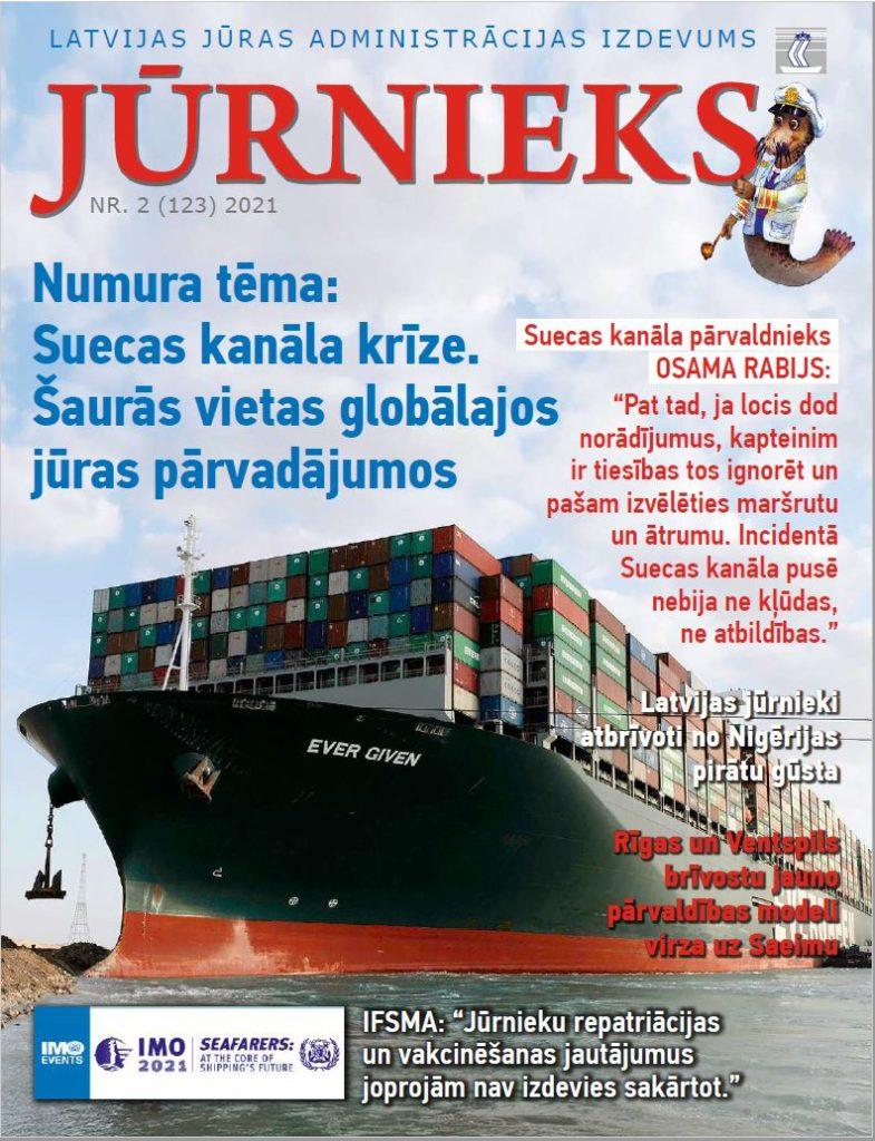 Žurnāls jūrnieks 2021-2 vāka foto